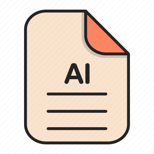 Document, file, file ai, generic file, illustrator, vector format icon - Download on Iconfinder