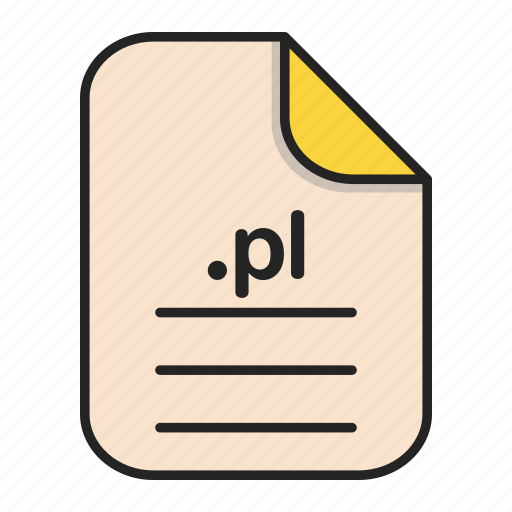 Document, extension, file, format, pl, type, web icon - Download on Iconfinder