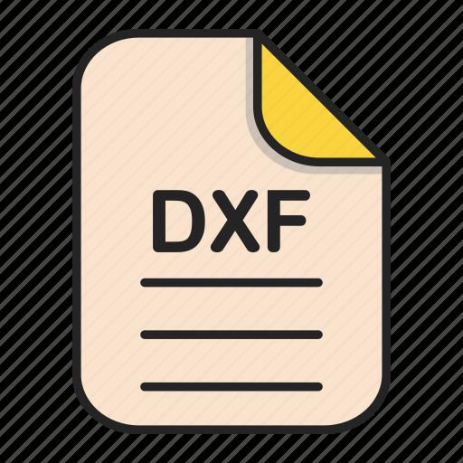 document, dxf, file, generic file, illustrator, vector format icon