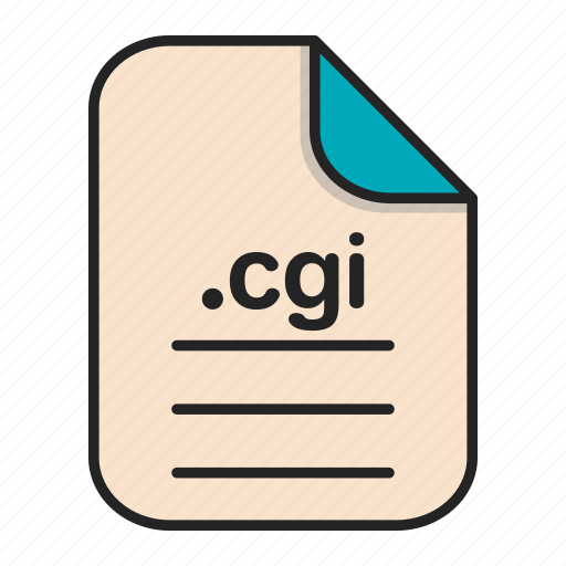 cgi, document, extension, file, format, type, web icon