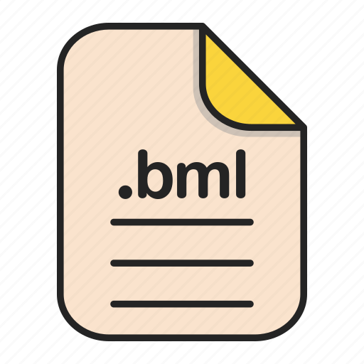 bml, document, extension, file, format, type icon