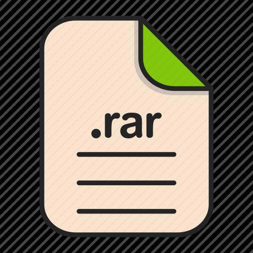 archieve, compressed, document, file, format, rar icon