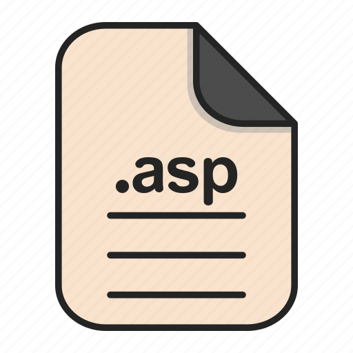 asp, document, extension, file, format, type icon