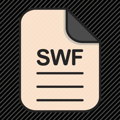 Document, file, generic file, illustrator, swf, vector format icon - Download on Iconfinder