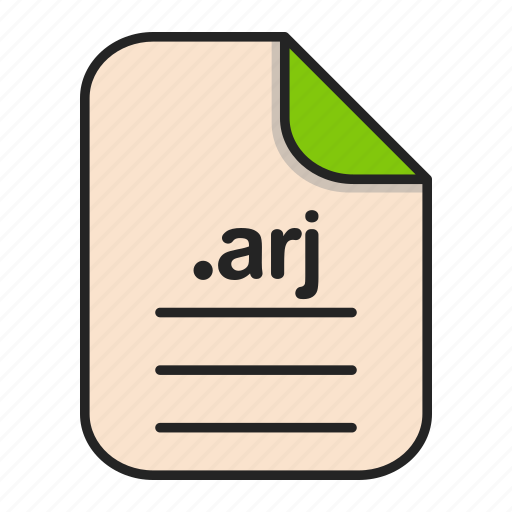 archieve, arj, compressed, document, file, format icon