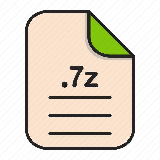archieve, compressed, document, file, file 7z icon