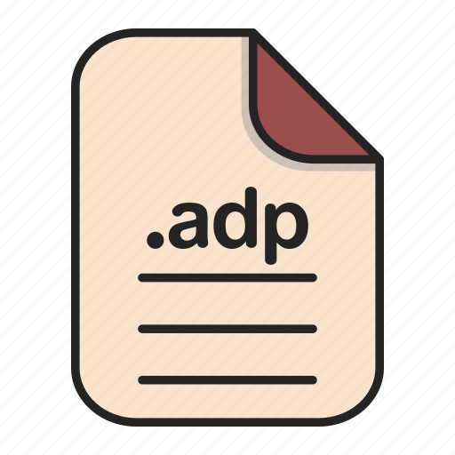 Adp, document, extension, file, format, type icon - Download on Iconfinder