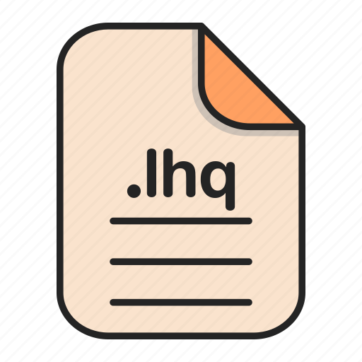 archieve, compressed, document, file, format, lhq icon