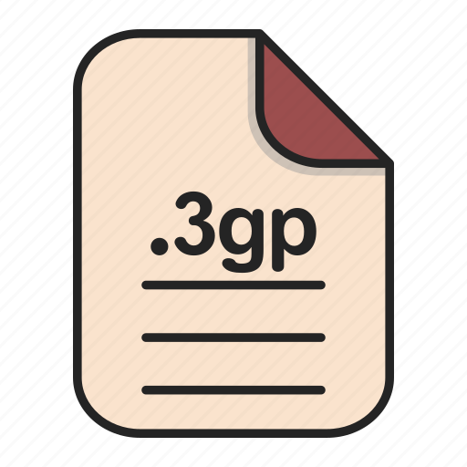 Document, extension, file, file 3gp, format, video icon - Download on Iconfinder