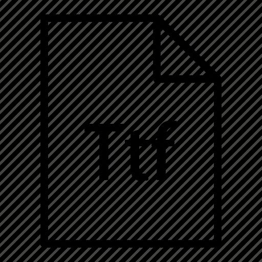 ducument, extension, file, fileextension, filetype, ttf icon