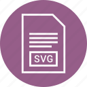 extention, file, svg file, type icon