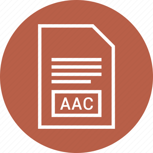 aac, extention, file, type icon