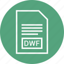 dwf, extention, file, type icon