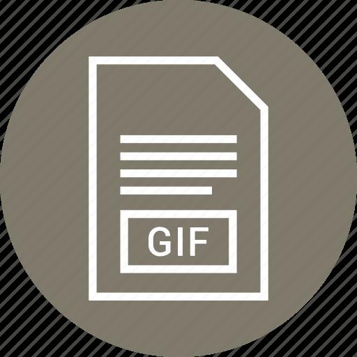extention, file, gif, type icon