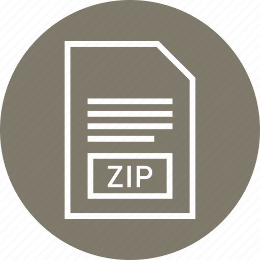 extention, file, type, zip icon