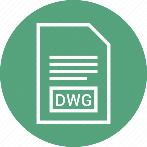 dwg, extention, file, type icon