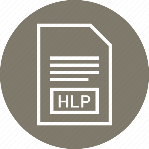 extention, file, hlp, type icon