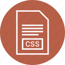 css file, document, extension, file icon