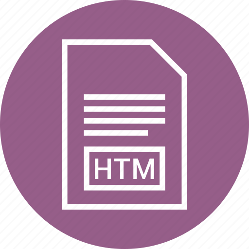 document, extension, file, htm icon
