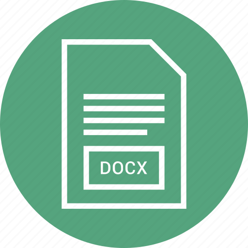 docx, extention, file, type icon