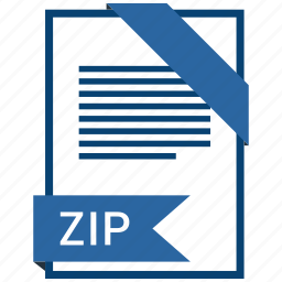 document, extension, format, paper, zip icon