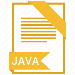 document, extension, format, java, paper icon