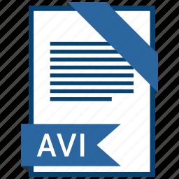 avi, extention, file, type icon