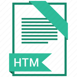 extention, file, htm, type icon