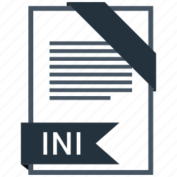 extention, file, ini, type icon