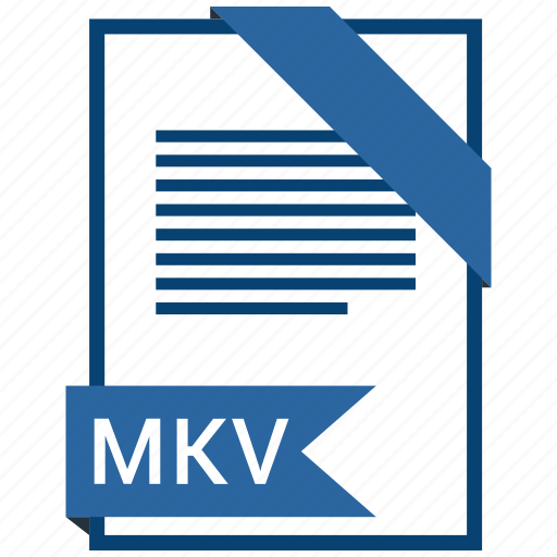 extention, file, mkv, type icon