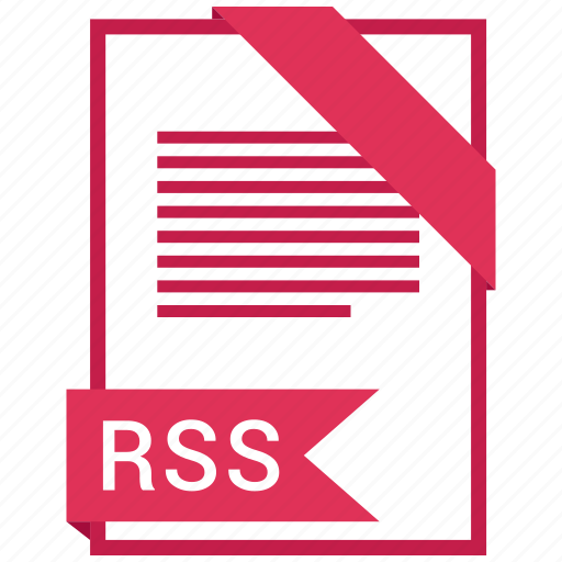 document, extension, file, format, paper, rss icon