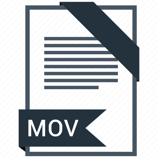 document, extension, file, format, mov, paper icon
