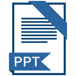 document, extension, file, format, paper, ppt icon