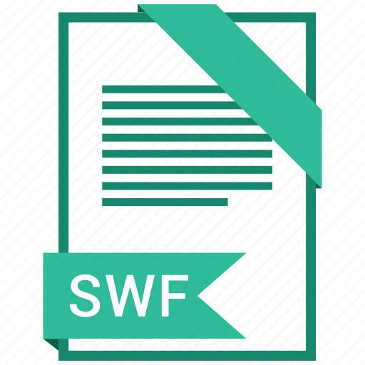 document, extension, file, format, paper, swf icon