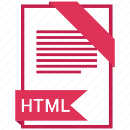 document, extension, file, format, html, paper icon
