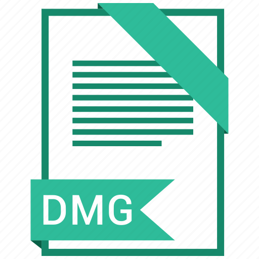 dmg, document, extension, format, paper icon