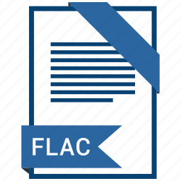 document, extension, flac, format, paper icon