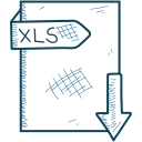 document, xls, file, format icon