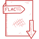 document, file, flac, format icon