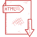 document, file, format, html icon