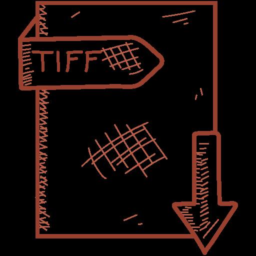 document, file, format, tiff icon
