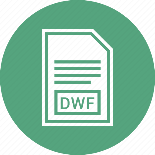 document, dwf, extension, file, format icon