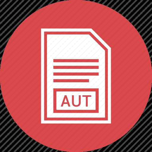 aut, document, extension, file, format icon