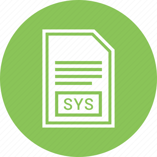 document, extension, file, format, sys icon
