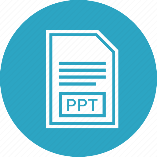 document, extension, file, format, ppt icon