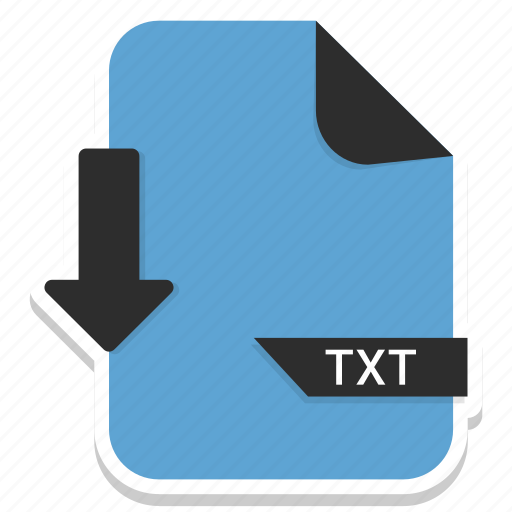 document, extension, file, format, page, txt icon