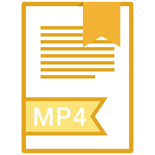 document, file, format, mp4 icon