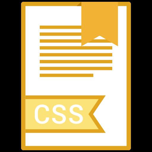 css, extension, file, name icon