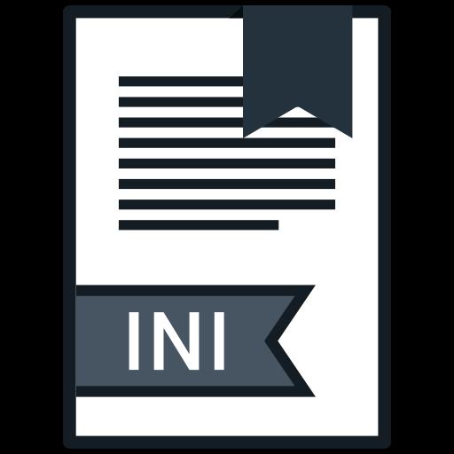 extension, file, ini, name icon