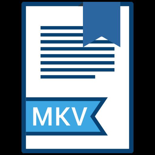 extension, file, mkv, name icon